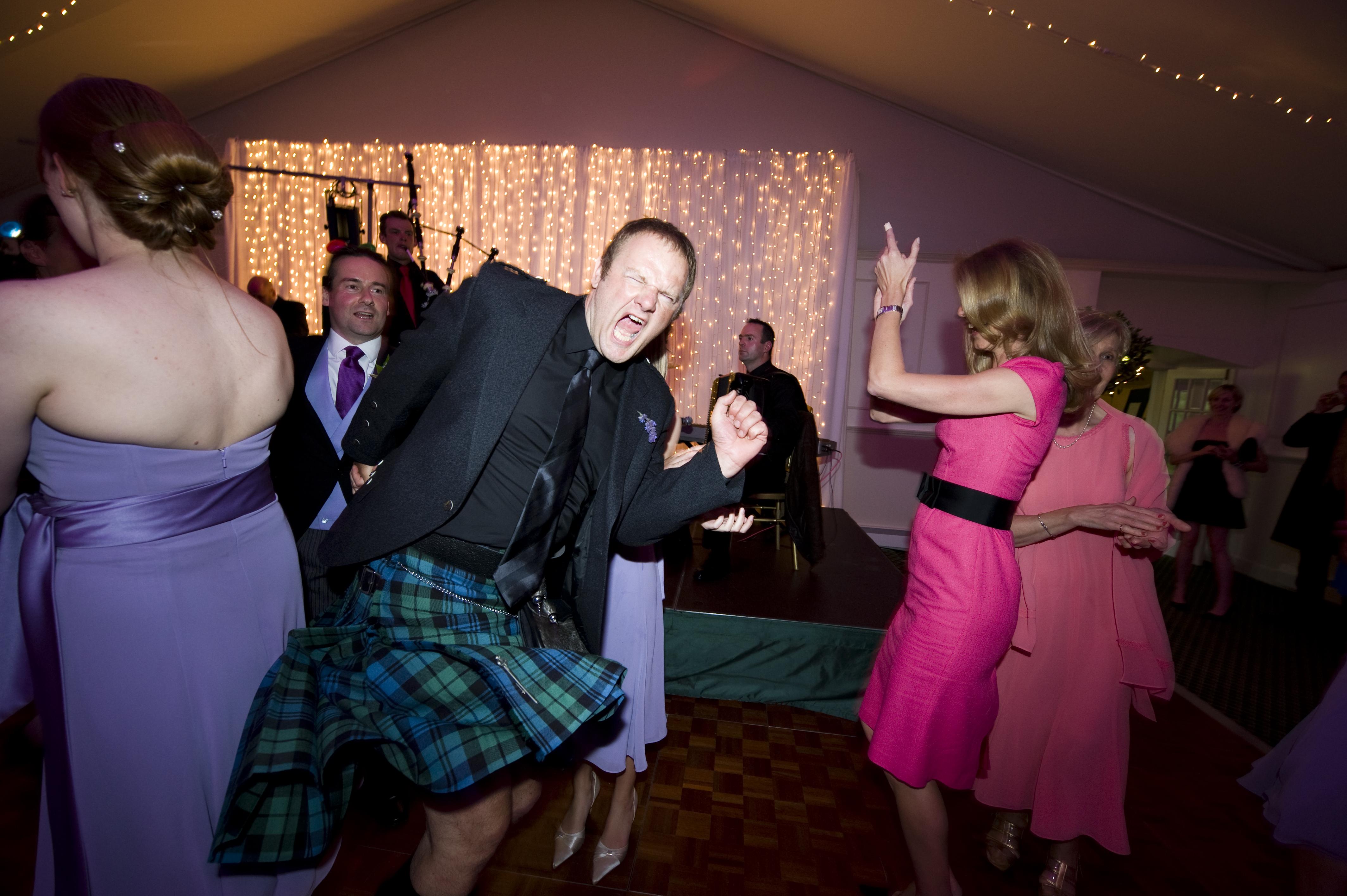 wedding evening entertainment Scotland:  ceilidh band