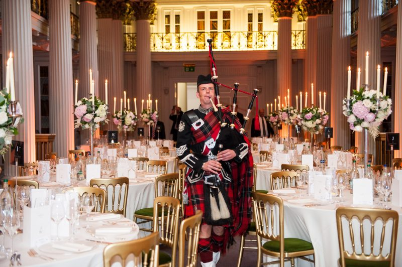 Bagpiper at the Signet Library