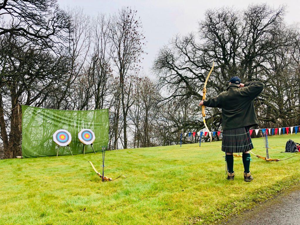 Archery at Hopetoun house