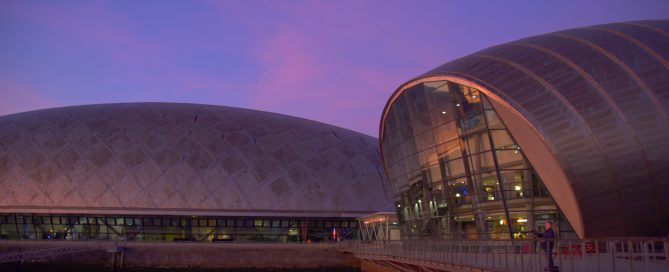 glasgow science centre conferences sunset